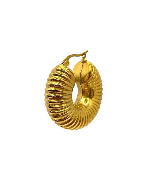 Nila gold blue earring