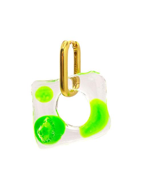 Aanya gold green earring