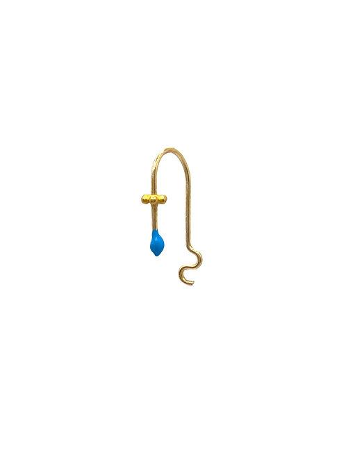 Barry gold aqua blue earring