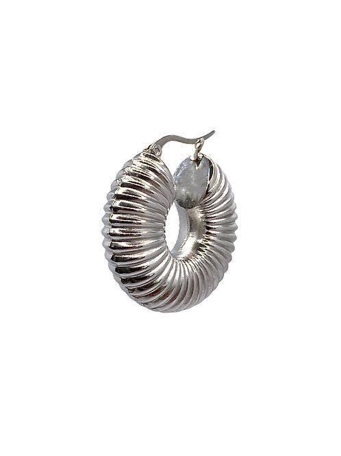 Nila silver blue earring