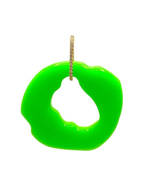 Akeno gold green earring