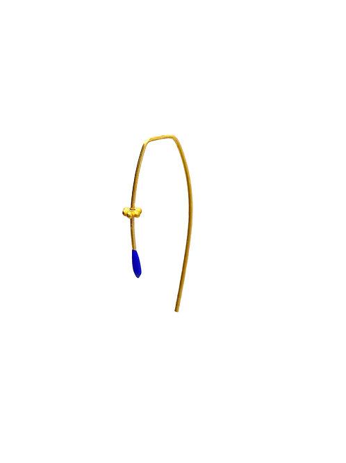 Desni cobalt blue gold earring