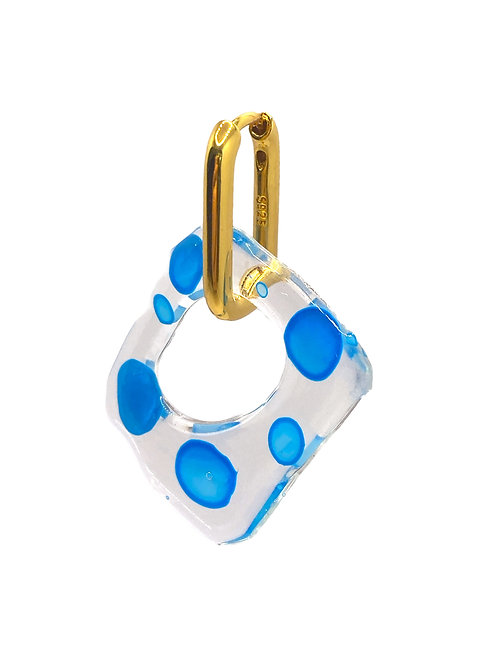 Aanya gold aqua blue earring