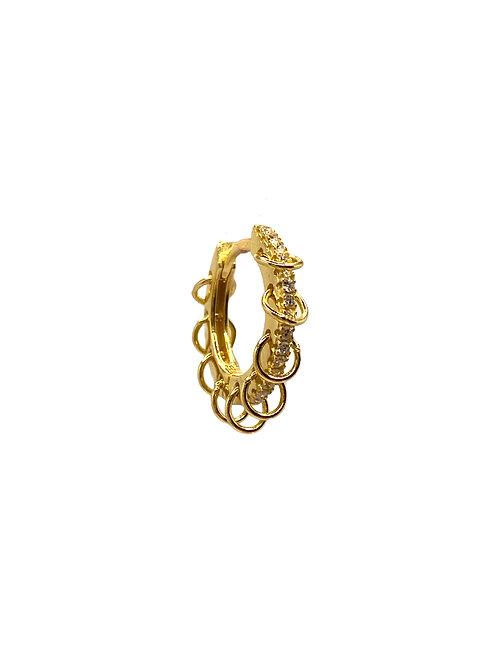 Destiny gold earring