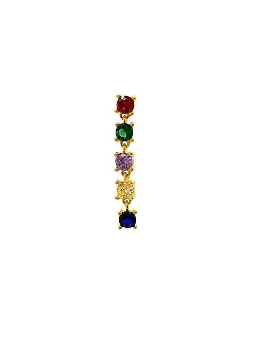 Shin gold earring