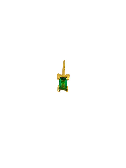 Evi green gold earring