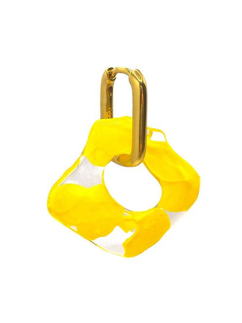 Aanya gold yellow earring