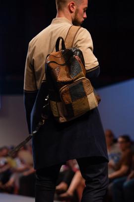 Leather Yahäs Backpack & Dual-Toned Corduroy Jacket