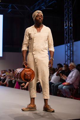 Leather Barrel Bag & Mens Jumpsuit