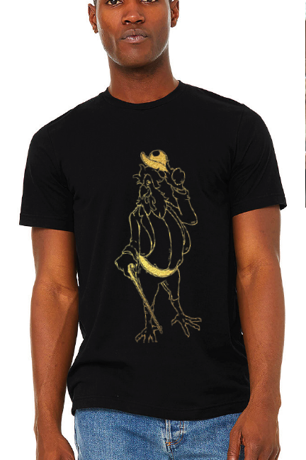 Homer Rooster Graphic Tee - Black & Gold
