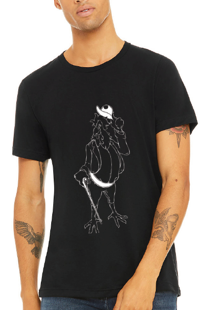 Homer Rooster Graphic Tee - Black & White