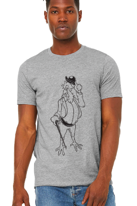Homer Rooster Graphic Tee - Light Grey
