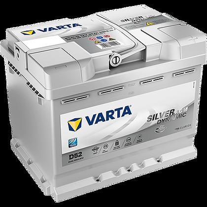 VARTA D52 60 Ah 680A (EN) Silver Dinamic AGM Start Stop