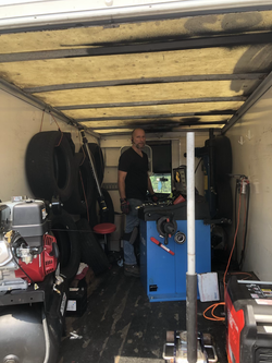 sam in mobile tire truck