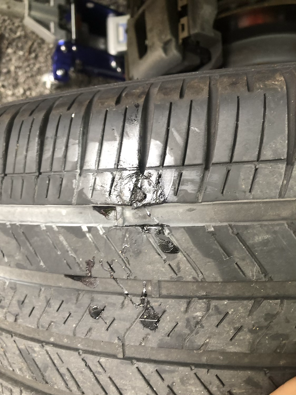tire plug repair on flat tire
