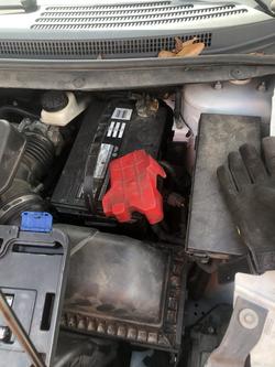 new battery installation