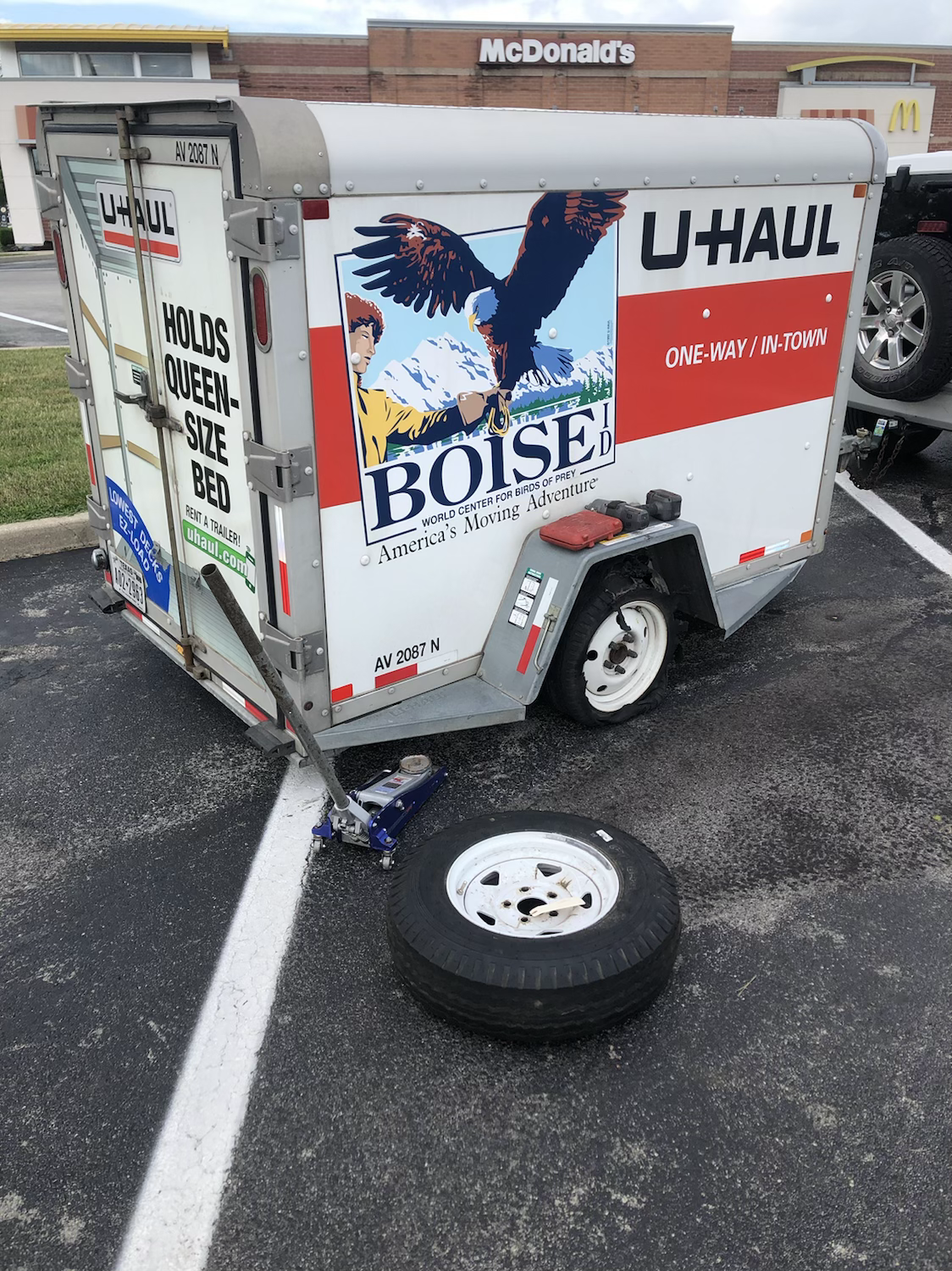 uhaul truck tire change