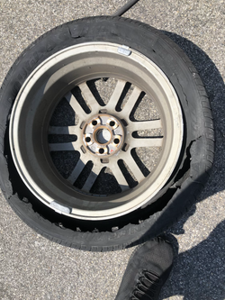 tire exploded tire change