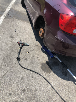 mobile tire change assistance.