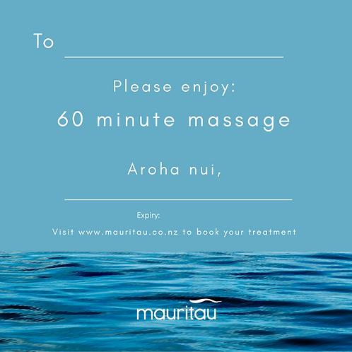 60 minute massage voucher
