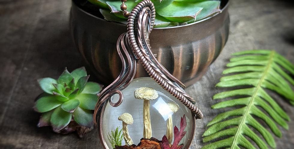 Amulett mit Shimeji Pilzen