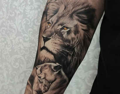 Tatuagem de Leão - Tattoo realistíca
