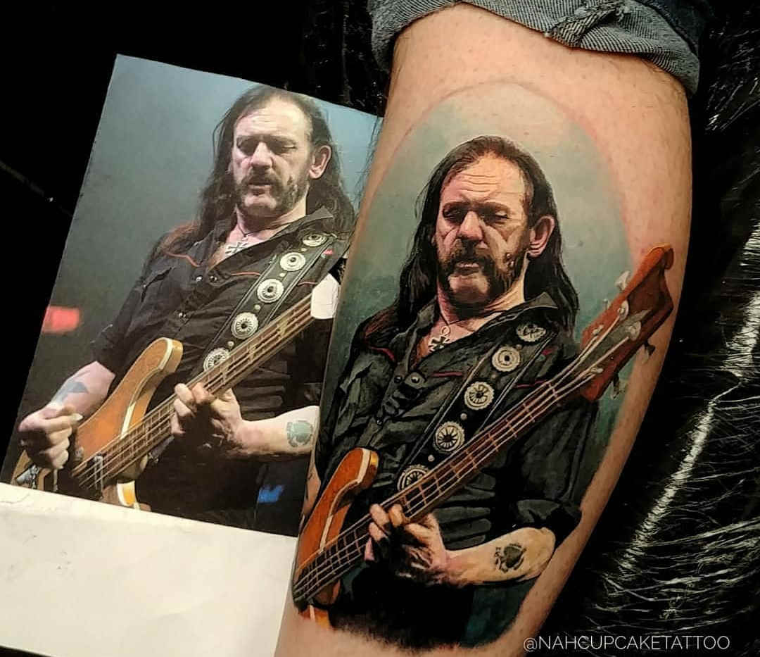 Tattoo Motorhead Lemmy Lilmister -  Tatuagem realística