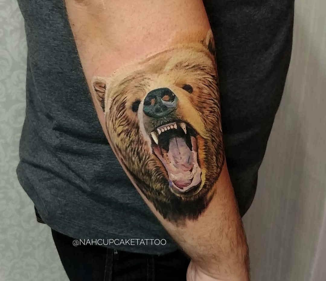 Tatuagem Urso - Tattoo realistíca