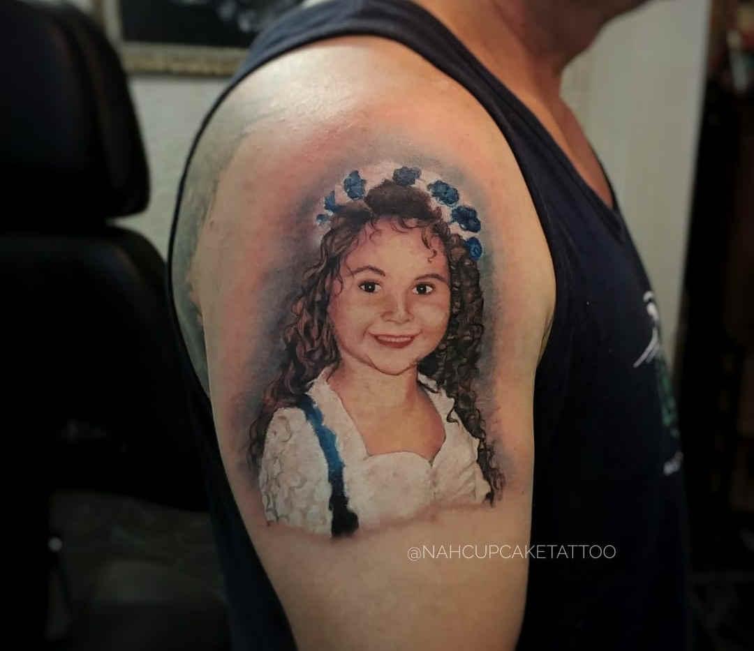 Tatuagem realística fotografia