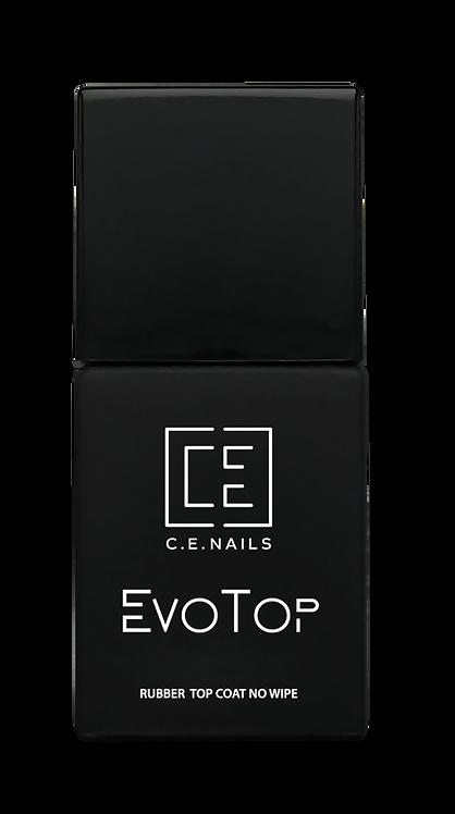 Каучуковый топ без липкого слоя C.E.Nails EvoTop Rubber No Wipe, 15 мл