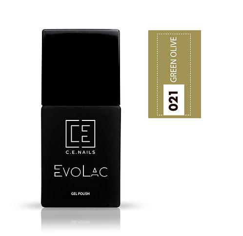 #021 Green Olive, Гель-лак для ногтей EvoLac