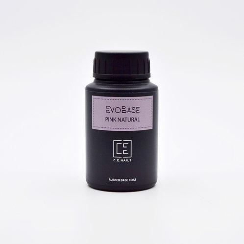 Темно-розовое базовое покрытие EvoBase Pink Natural, 30 мл
