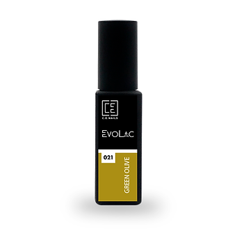 #021 Green Olive, Гель-лак для ногтей EvoLac, 8 мл