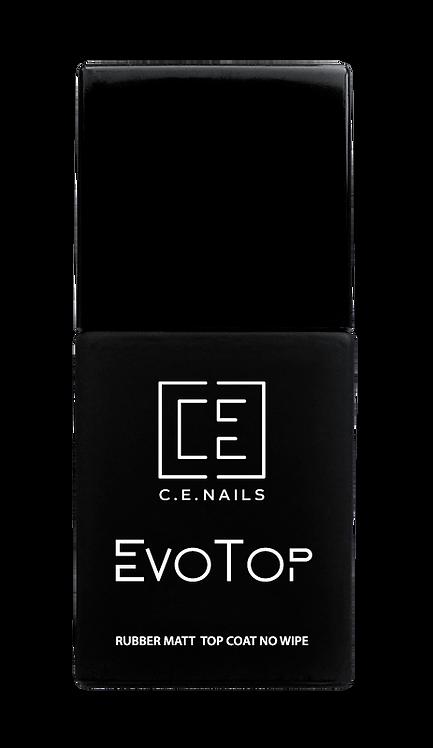 Матовый топ без липкого слоя  EvoTop Matt No Wipe, 15 мл (пластичный)