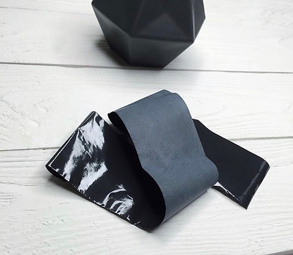 Фольга матовая чёрная, 30 см