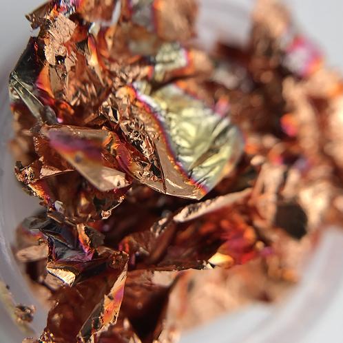 Сусальная фольга для ногтей, жженная бронза