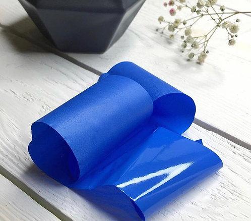 Фольга матовая синяя, 30 см