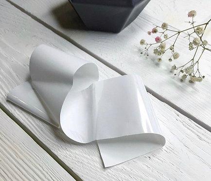Фольга матовая белая, 30 см