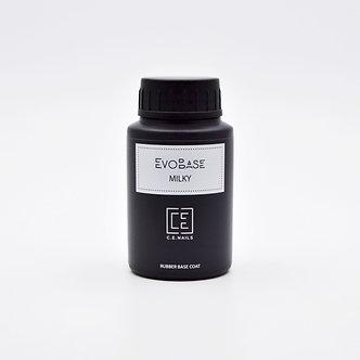 Камуфлирующая каучуковая основа C.E.Nails EvoBase Milky, 30 мл