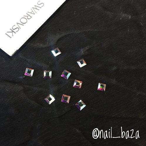 Квадратные кристаллы-хамелеоны Swarovski
