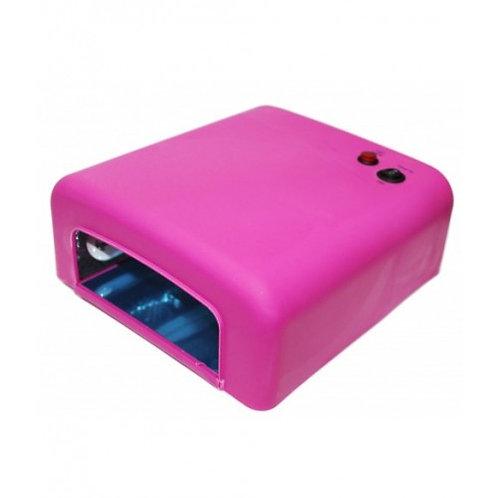 УФ-лампа для ногтей Bluesky-818 36W, розовая