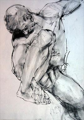 Desenho de modelo vivo de Maria Pacca