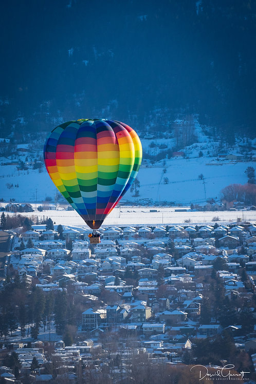 Balloon over Vernon, BC