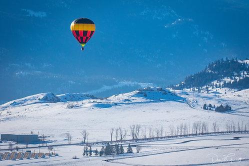 Hot Air Balloon in Mountains