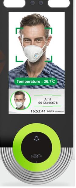 Temperature detection Biometrics