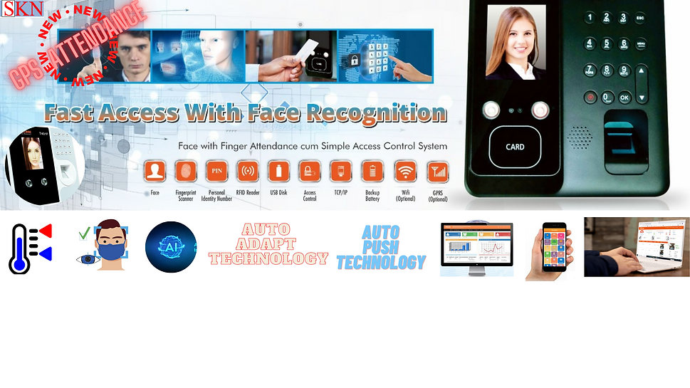 face recognition biometric attendance system by skn iot technology with various facilities such as cloud.
