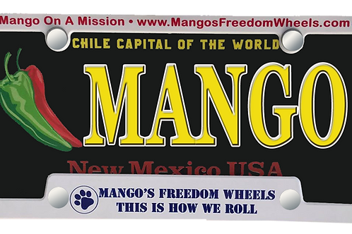 Mango License Plate Frame