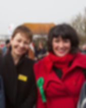 Caroline Hinkley anti nuclear power demo