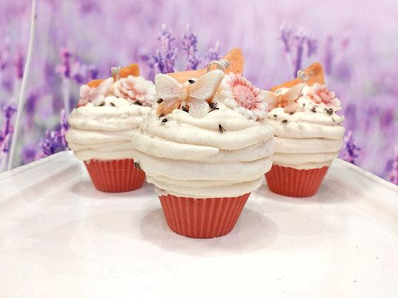 Peach Lavender Cupcake Candle