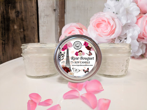 Rose Bouquet Jar Candle